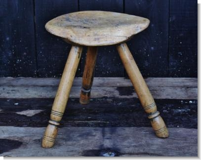 WONDERFUL WELSH SYCAMORE STOOL