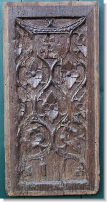 UnusuaL 15 / 16TH CENTURY BLIND GOTHIC PANEL