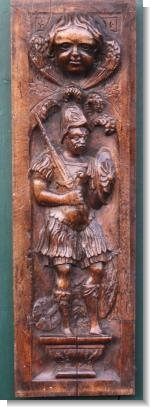 INTERESTING RENAISANCE PANEL OF ROMAN SOLDIER.