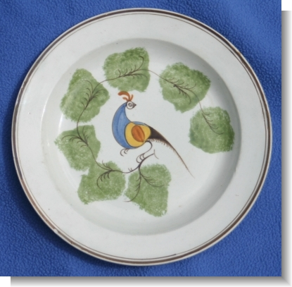 Good PEAFOWL PLATE, c.1820