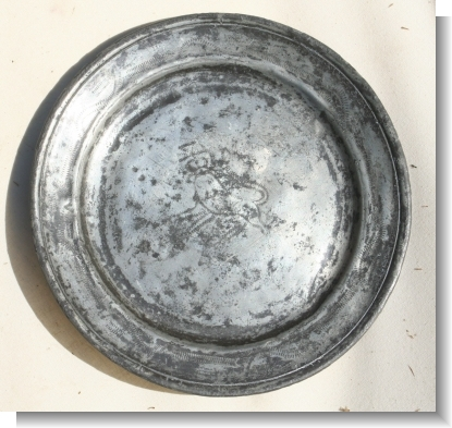 PEWTER PLATE WRIGGLE WORK London 1720