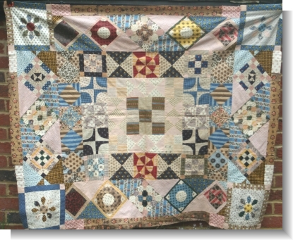 INTERESTING ENGLISH PATCH WORK QUILT
