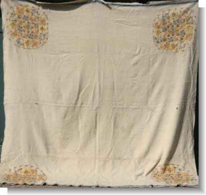 VERY RARE 1786 HOMESPUN BLANKET