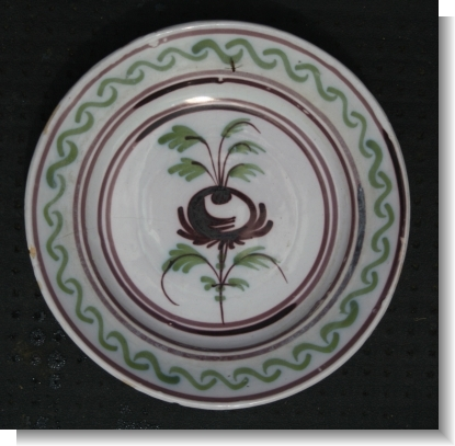 ANTIQUE DELFT CHARGER