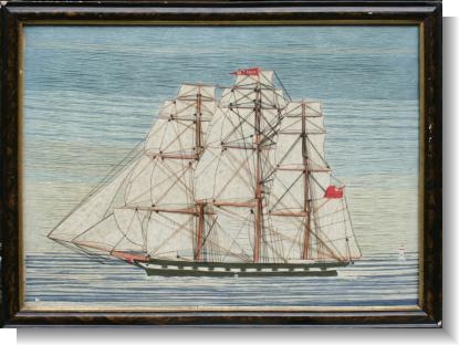 OHIO, GOOD 19th Century SHIP WOOLWORK