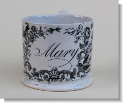 MARY . printed childs mug c.1840