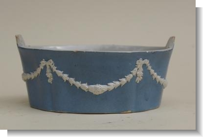 SLIP DECORATED BUTTER POT