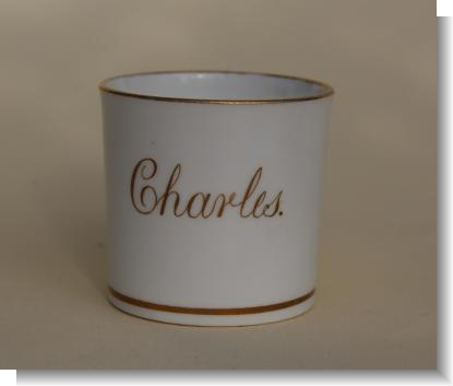 CHARLES, English Porcelain childs mug