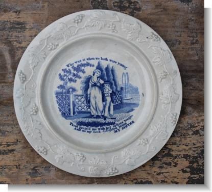 My SISTER, childs plate c.1830