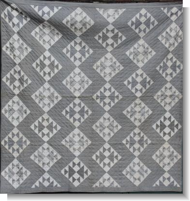 GOOD ENGLISH DOUBLE BLACK & WHITE QUILT