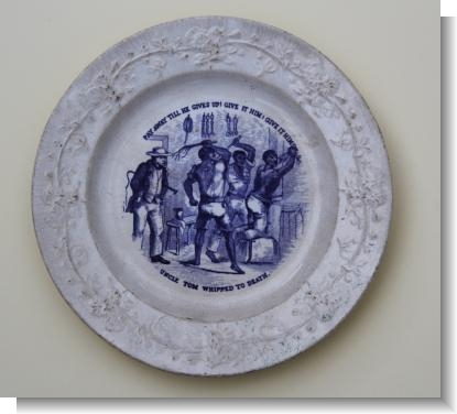 UNCLE TOM WHIPPED TO DEATH, childs Plate