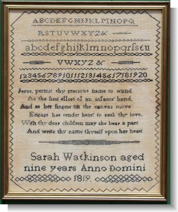 SARAH WATKINSON 1819 , Quaker Influenced