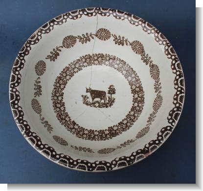 LARGE COW BOWL