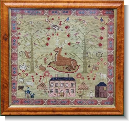.A REMARKABLE 19th CENTURY HOUSE SAMPLER WELSH !.