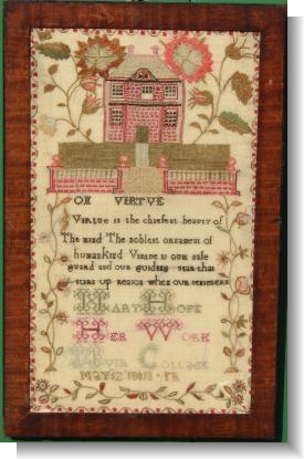 MARY HOPE, 1813 SCOTTISH HOUSE SAMPLER