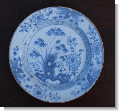 Mid 18th Century ENGLISH DELFT PLATE