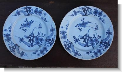 ENGLISH DELFT PLATEs c.1760