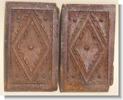 INTERESTING LATE GOTHIC DIAMOND PANELS circa 1550.
