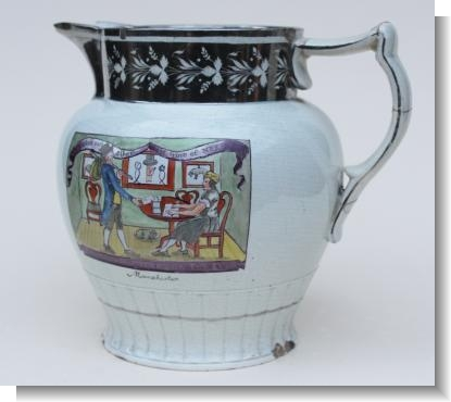 RARE HATTERS POLITICAL JUG, dated 1810
