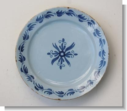 ENGLISH DELFT PLATE, Londonc.1730.