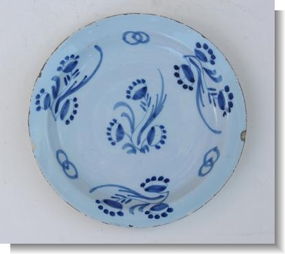 LONDON DELFT WARE PLATE, c.1740