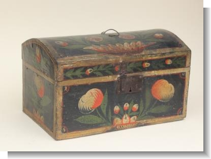 SMALL FRENCH MARRIAGE BOX BRITTANY, c.1840