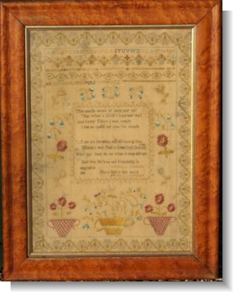 MARY BERRY 1821.I LOVE THIS SAMPLER