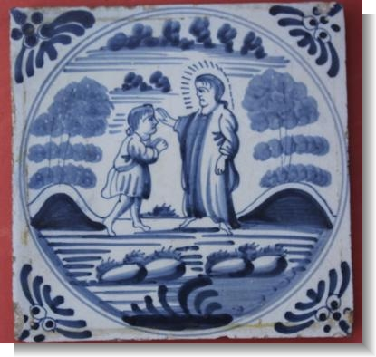 18th Century EGLISH DELFT TILE