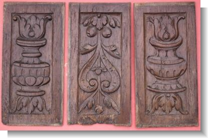 THREE FRENCH RENAISSANCE PANELS, circa 1550