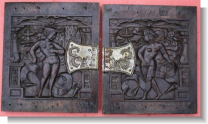 PAIR of DOOR PANELS,  circa 1535