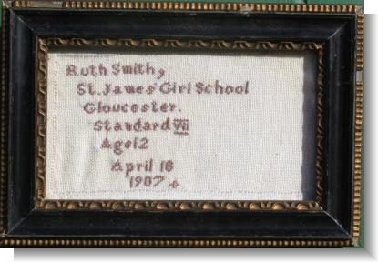 RUTH MARY SMITH 1907, St.James Girl School Gloucester
