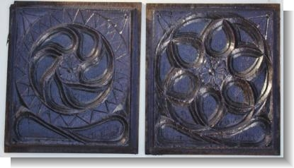 UNUSUAL PAIR OF EARLY 15th CENTURY GOTHIC PANELS