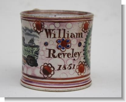 WILLIAM REVELEY 1851 SUNDERLAND / TYNEMOUTH MUG