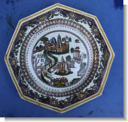 RARE ELEPHANT PATTERN WEDGWOOD & Co HEXAGONAL PLATE