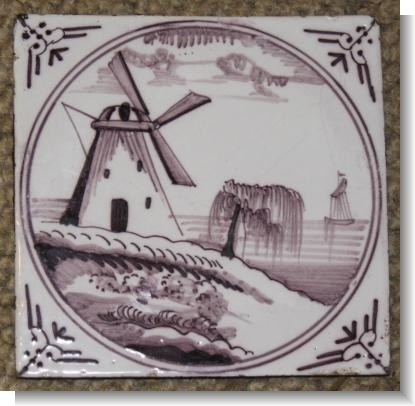 UNUSUAL 18th Century DELFT TILE