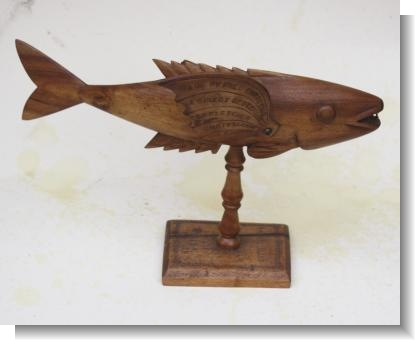 RARE LARGE DATED FISH by FRED CHRISTIAN 1953