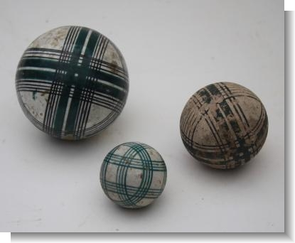 19th CENTURY CARPET BALLS