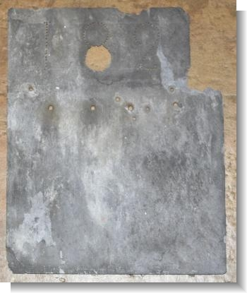 RARE 1821 DATED SLATE ROOF TILE