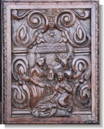 NATIVITY PANEL, Flemish circa 1600