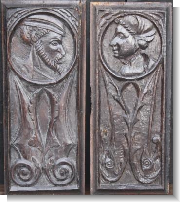 PAIR OF ROMAYNE PANELS, c.1580