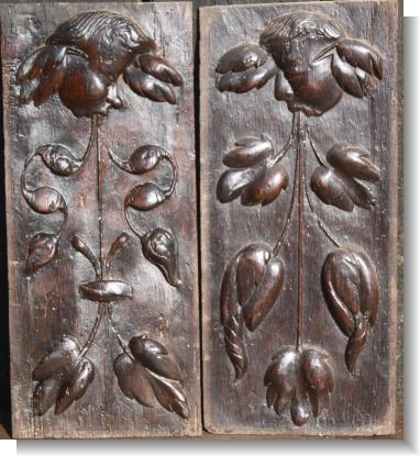 2 X  RINCEAUX STYLE PANELS with ANGELS, C.1530.