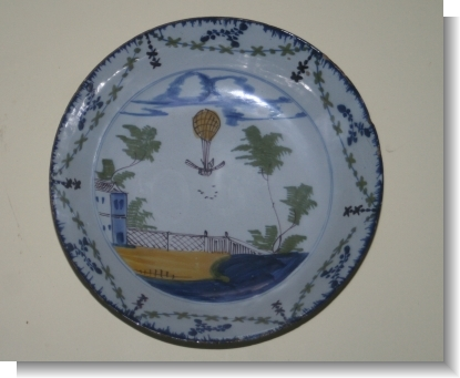English Delft BALLONING BOWL